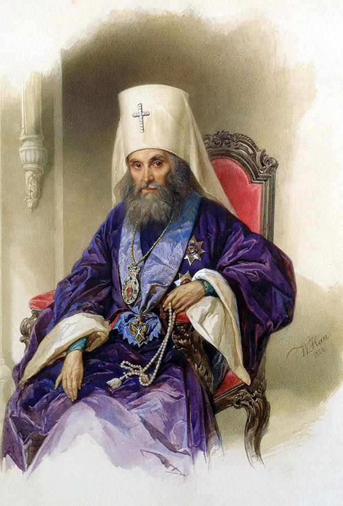Владимир Гау. Портрет Митрополита Филарета (Дроздова). 1954 г