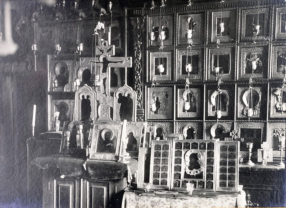 Моленная в особняке Е.Е. Егорова. Фотография 1917 года ОР РГБ Ф.98/2 №82 Папка с фотографиями моленной (старый шифр)
