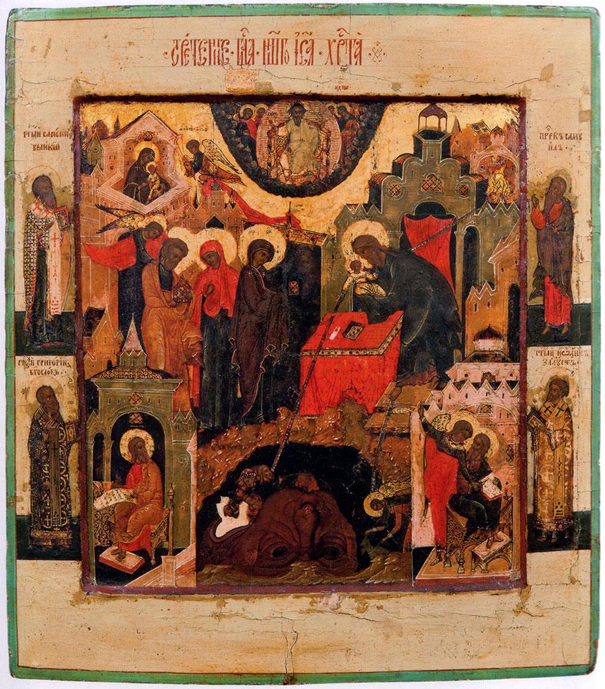 Сретение Господне. I половина – середина XVII века. Москва. 31,5х27,5 см. ГИМ