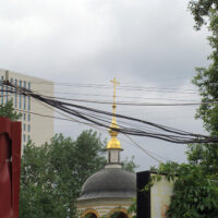 Вид на Крестовоздвиженскую моленную женского двора Преображенского монастыря