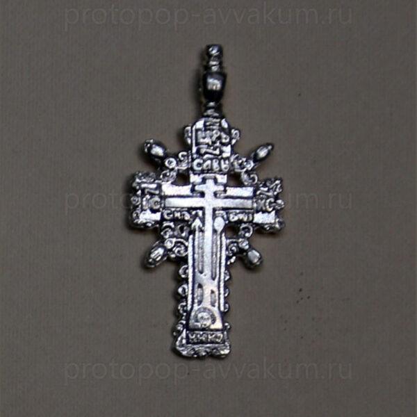 Крест нательный Царьградский (серебро) мужской