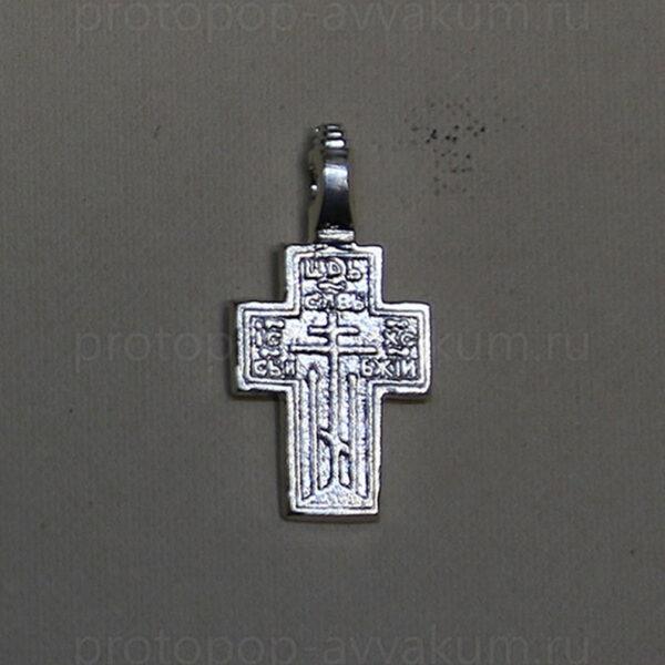 Крест нательный (серебро) мужской